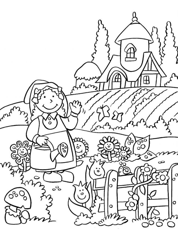 flower garden coloring pages picture
