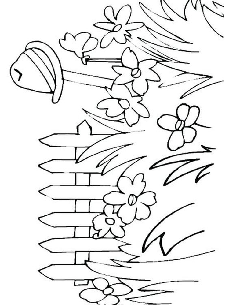flower garden coloring pages print