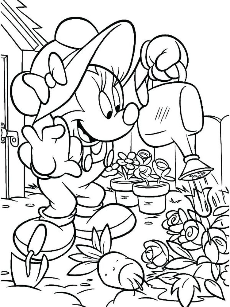 flower garden coloring pages sheet