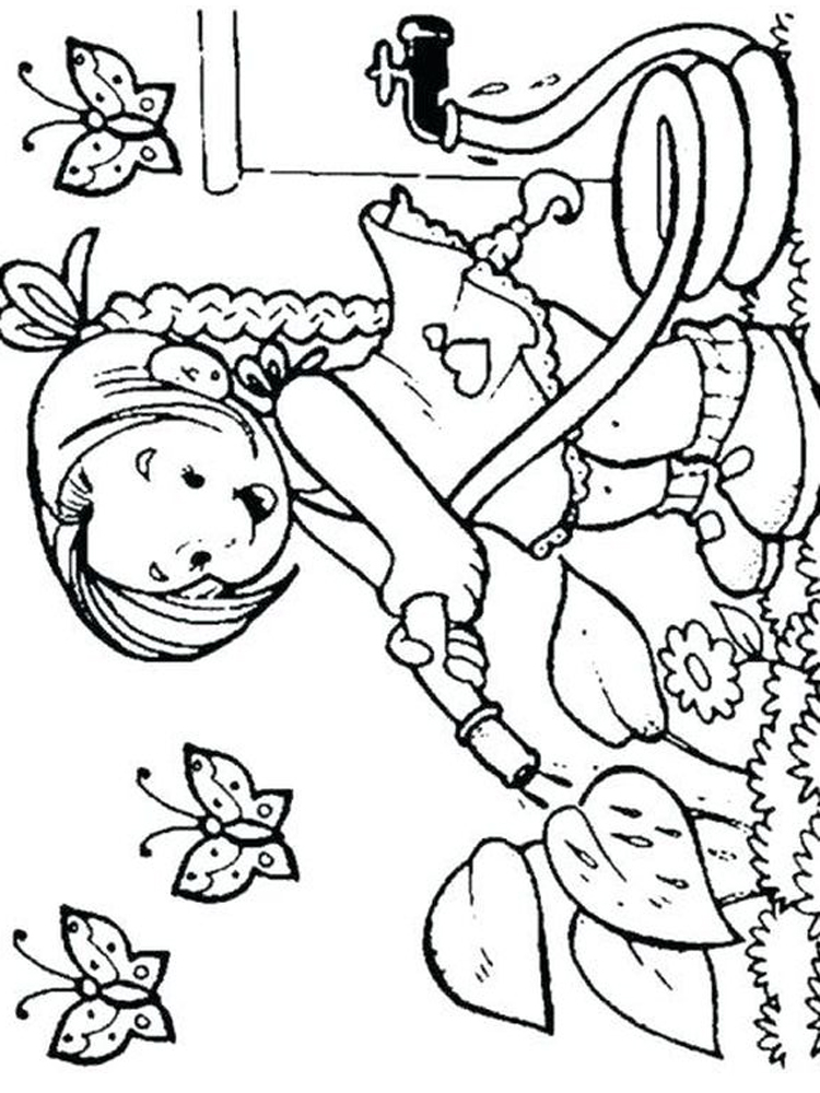 flower garden coloring pictures