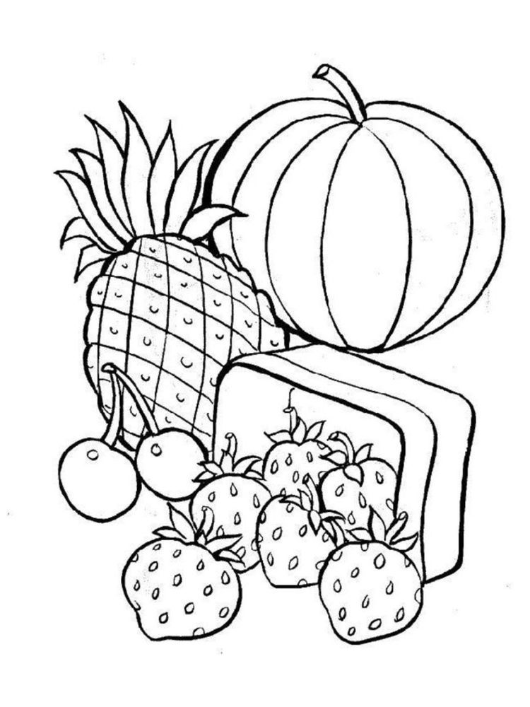 food coloring pages for kindergarten
