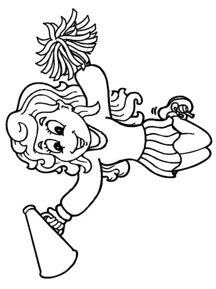 football cheerleader coloring pages