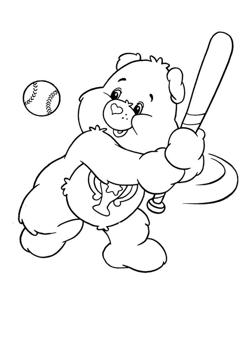 free Baby Care Bear Coloring Pages