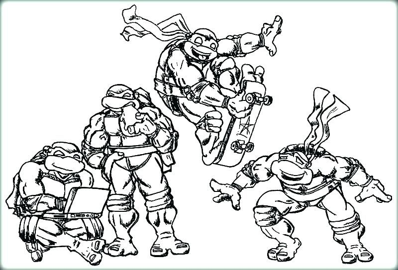 free Baby Ninja Turtle Coloring Pages