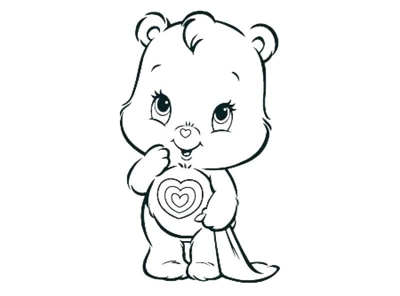 free Bedtime Care Bear Coloring Pages