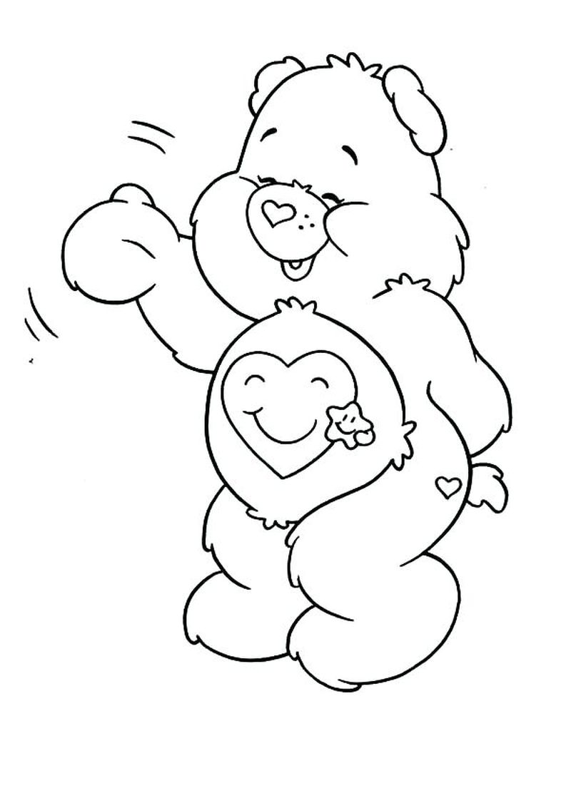 free Birthday Bear Care Bear Coloring Pages