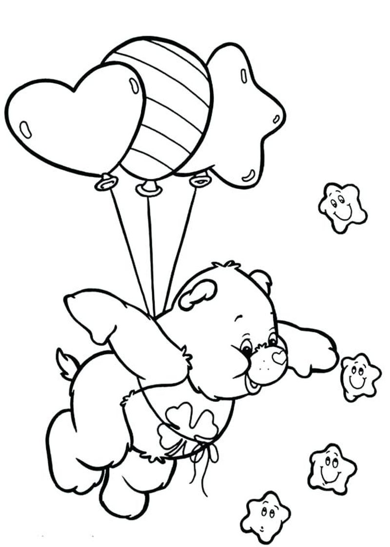 free Birthday Care Bear Coloring Pages
