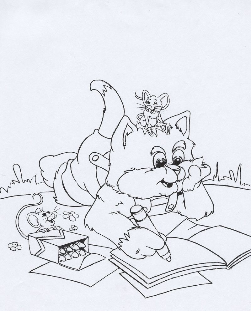 free Books Coloring Pages Printable