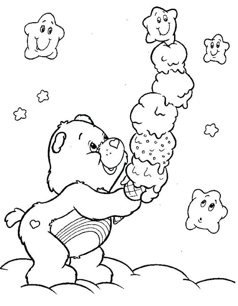 free Care A Bear Coloring Pages