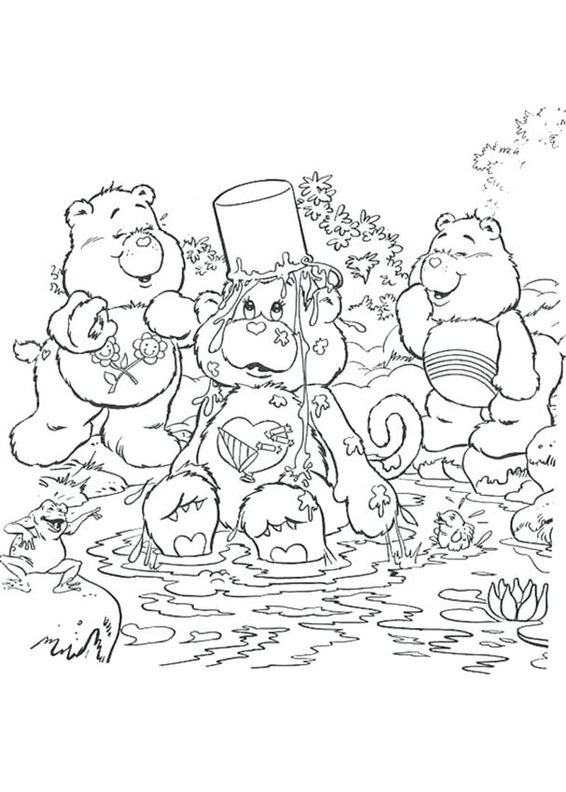 free Care Bear Christmas Coloring Pages