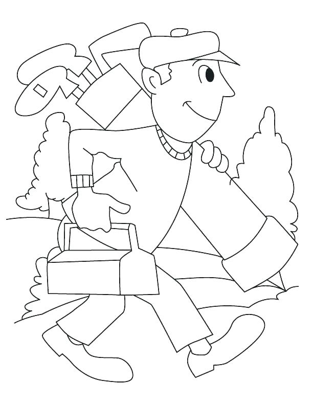 free Playing Golf Coloring Page