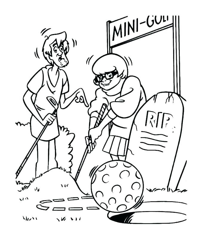 free Velma Golfing Coloring Pages