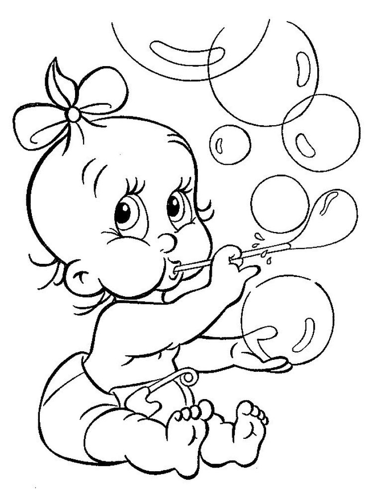 free baby coloring pages free printable