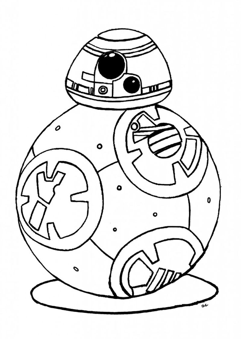 free bb8 coloring pages free