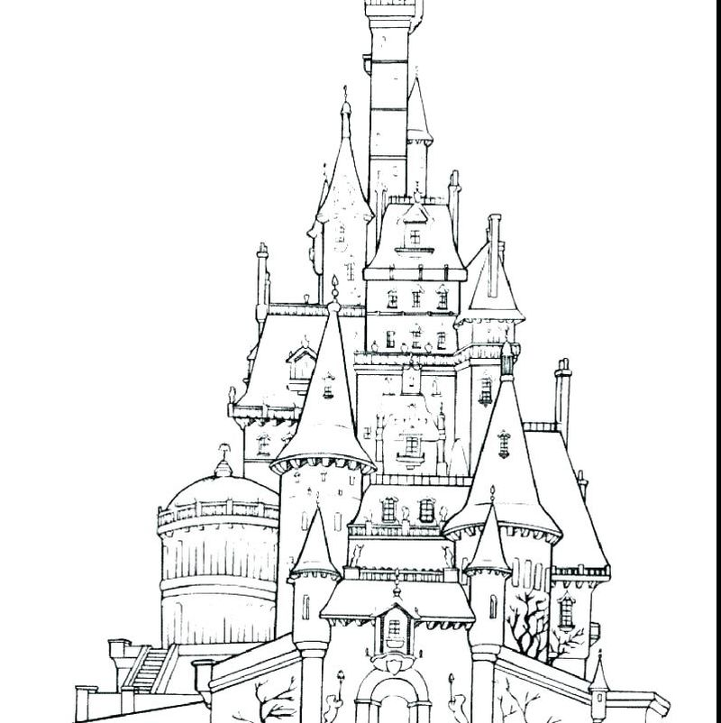 free castle coloring pages to print