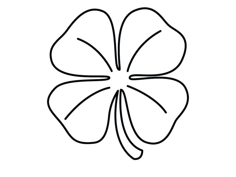 free coloring page of a shamrock