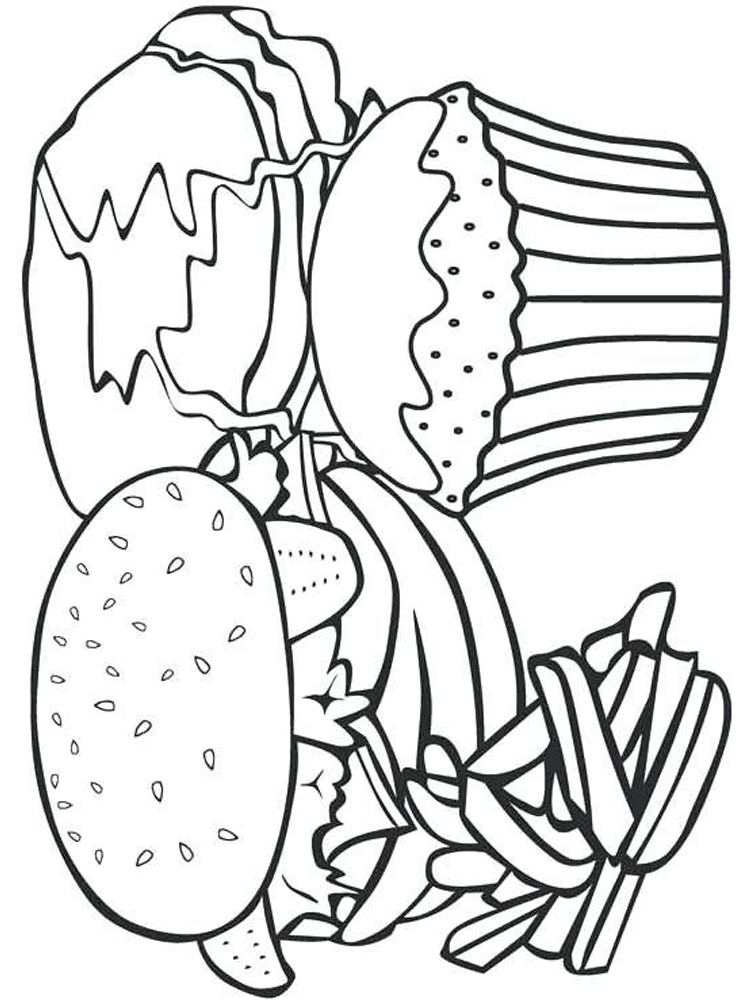 free coloring pages about food