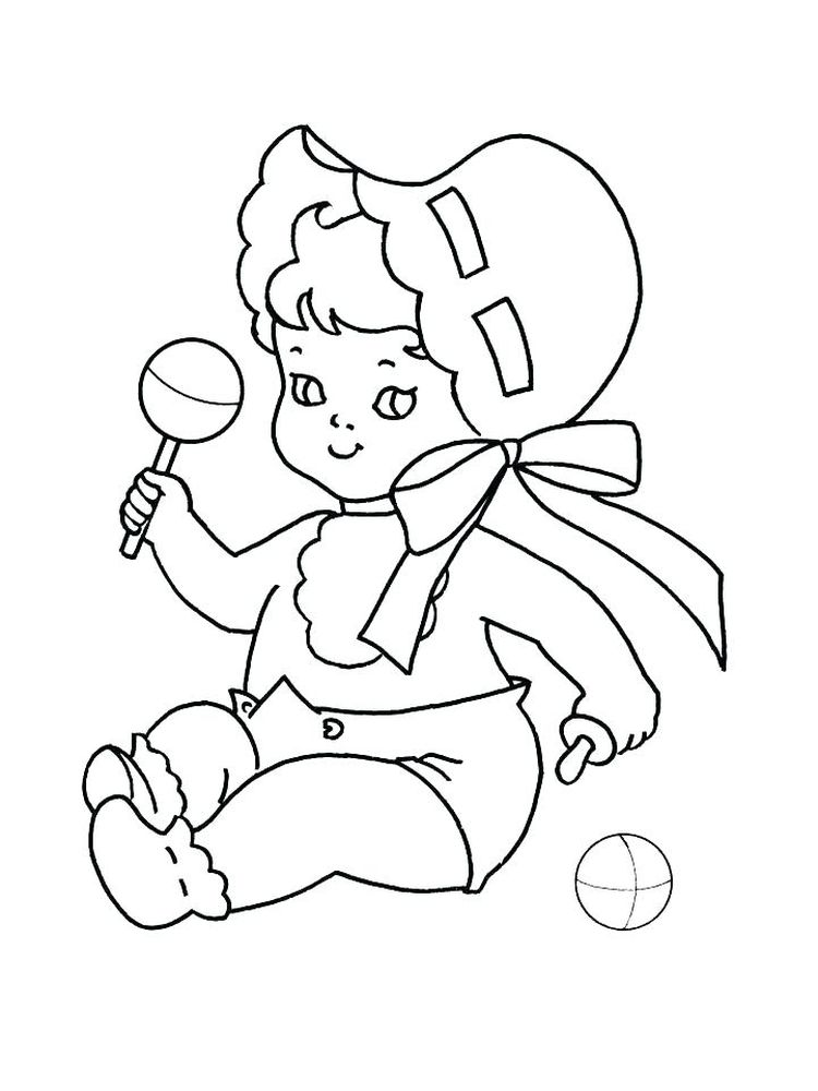free coloring pages baby print