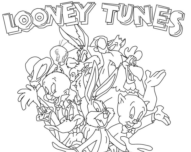 free coloring pages looney tunes characters