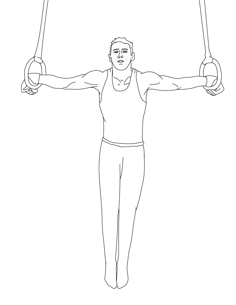 free coloring pages of gymnastics