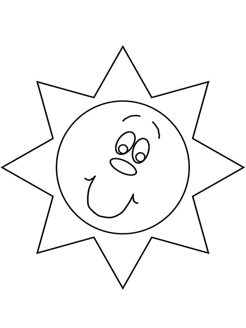 free coloring pages sun and moon