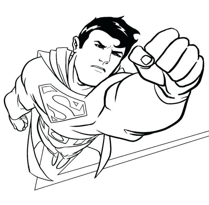 free coloring pages superman
