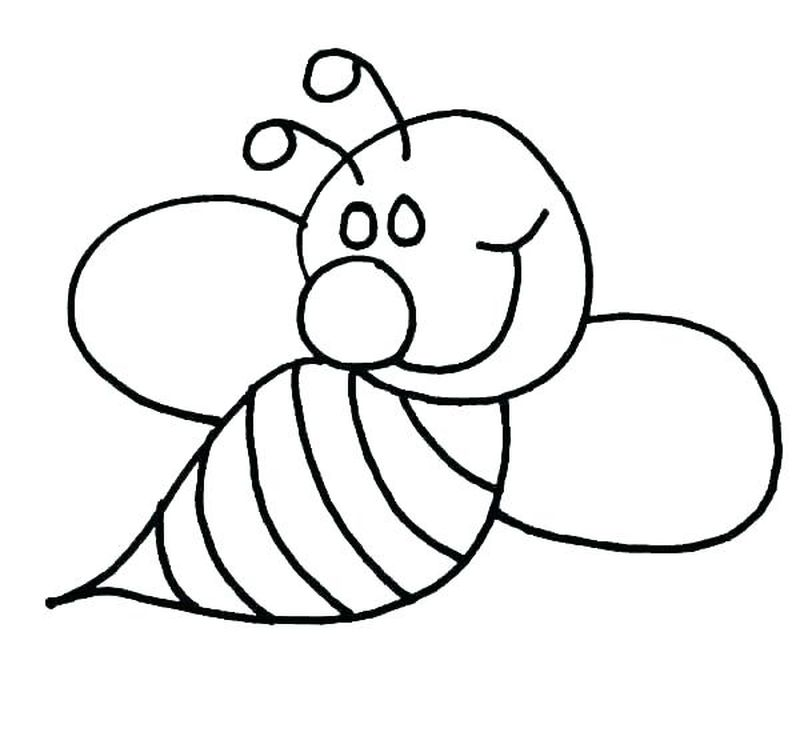 free cute bumble bee coloring pages