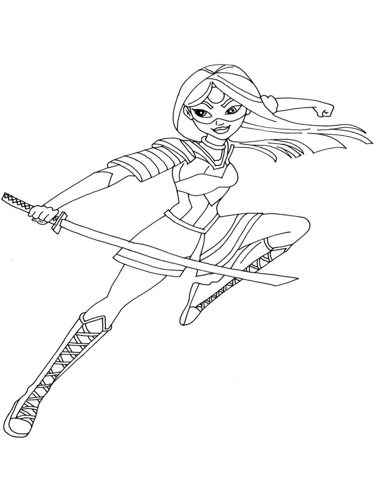 free dc superhero girl coloring pages