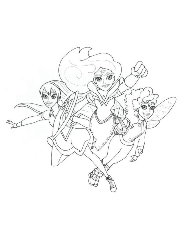 free dc superhero girls coloring pages pict