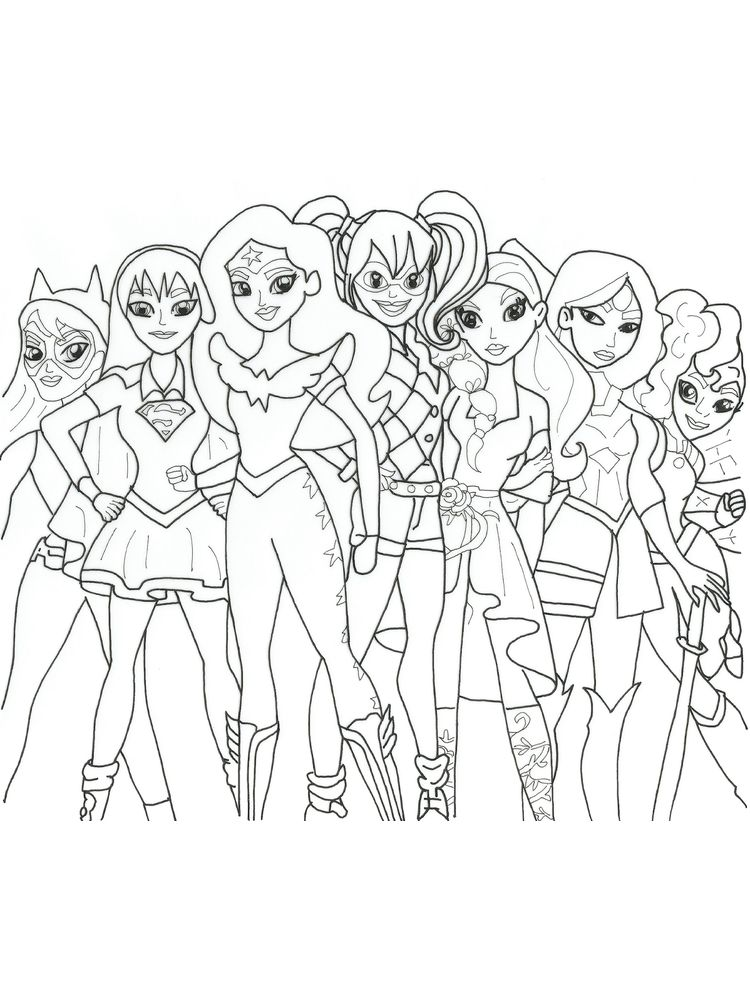 free dc superhero girls coloring pages picture