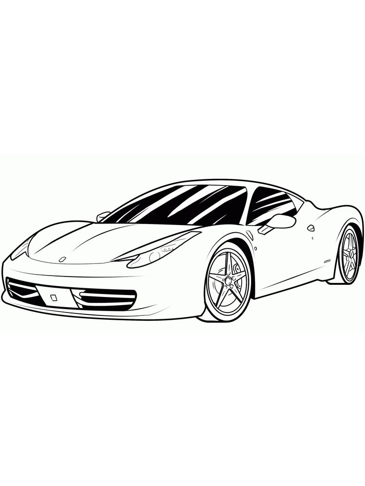 free ferrari coloring pages book for kids boys.com