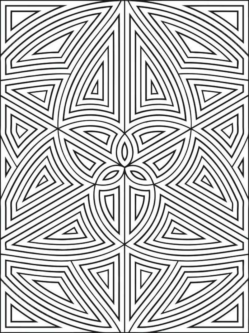 free geometric coloring pages easy