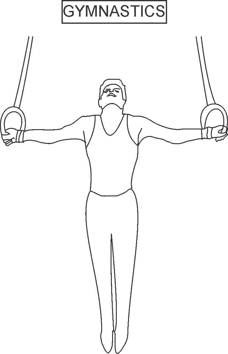 free gymnastics colouring pages
