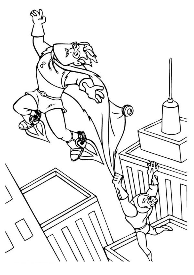 free incredibles online coloring pages