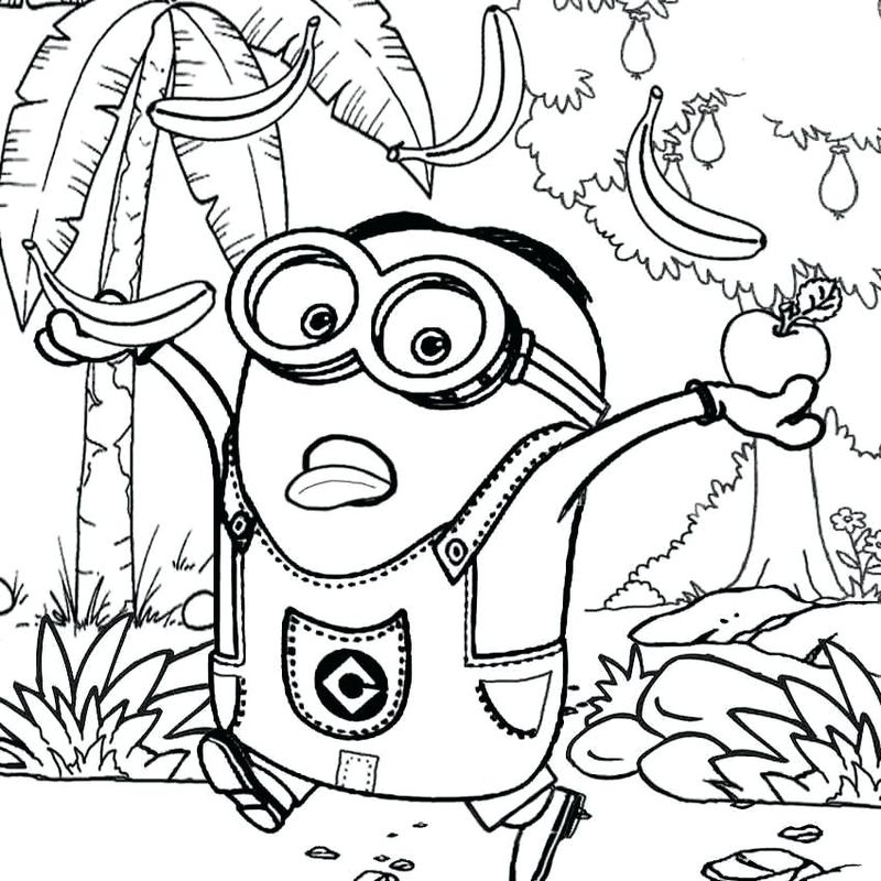 free minions colouring pages to print