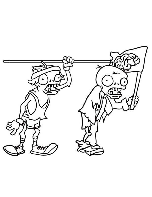 free plants vs zombies coloring pages 1