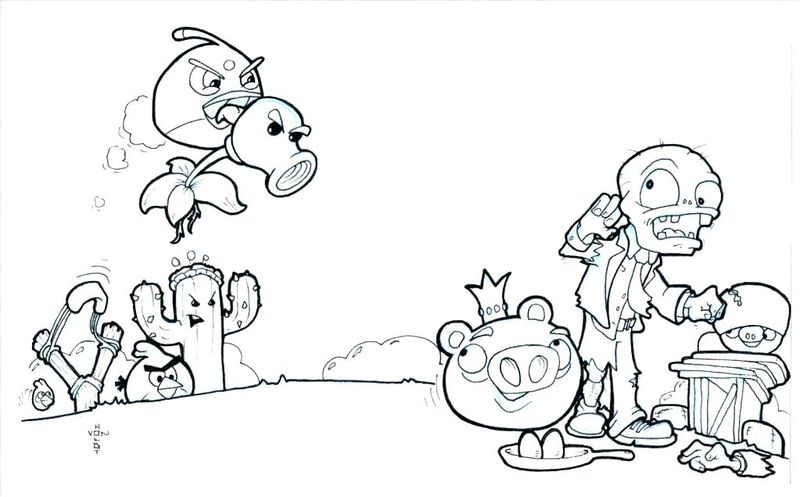 free plants vs zombies coloring pages