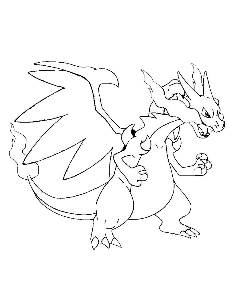 free printable charizard coloring pages