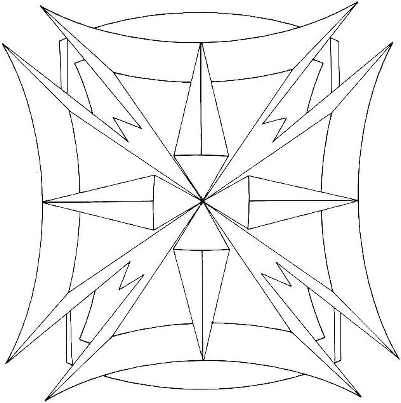 free printable coloring pages geometric designs