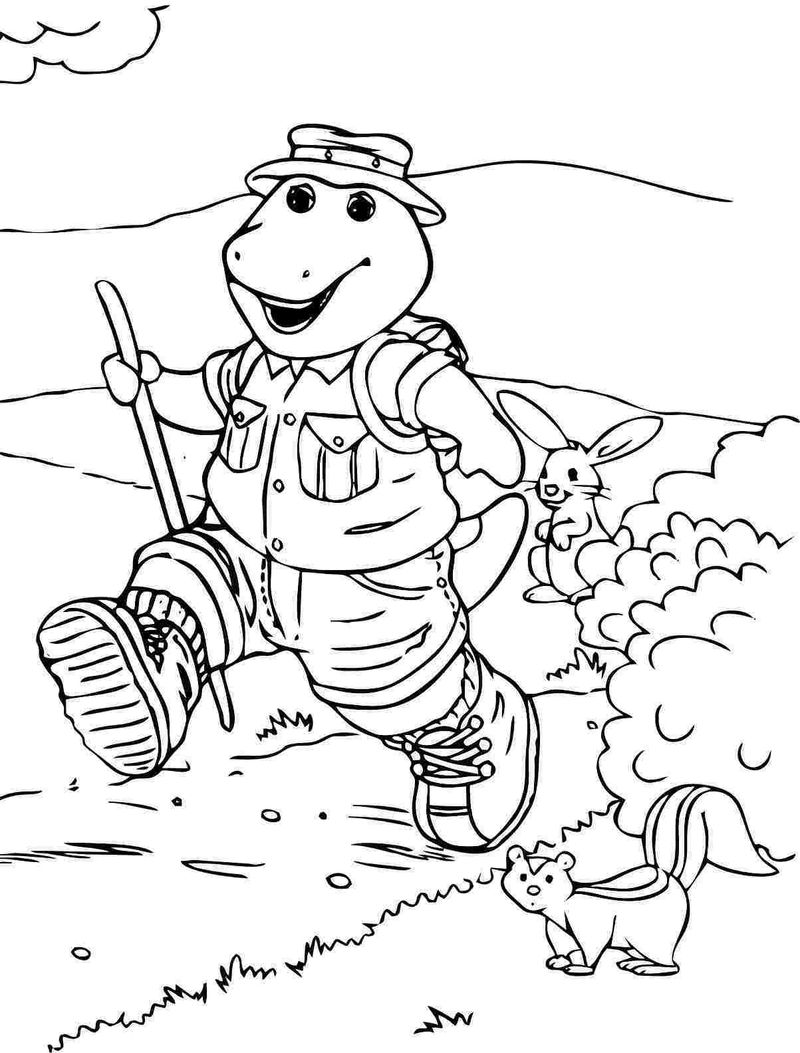 free printable coloring pages of barney