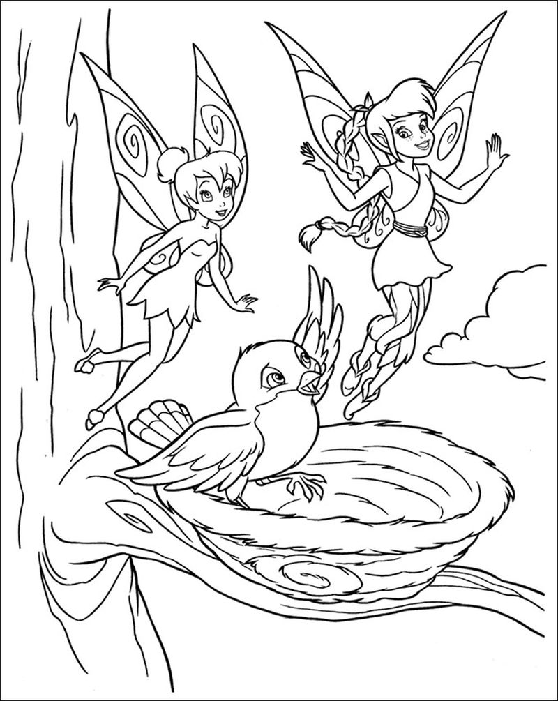 free printable coloring pages of tinkerbell and friends