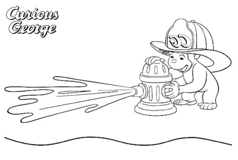 free printable curious george coloring pages