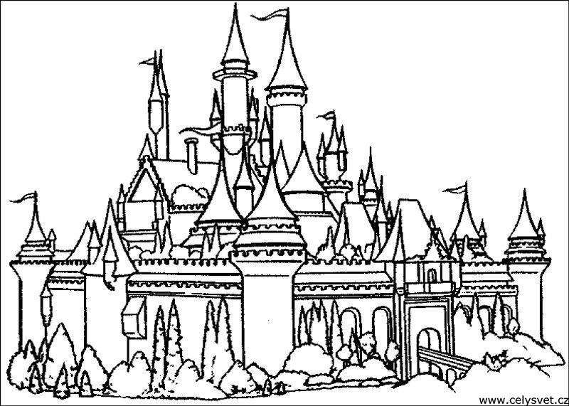 free printable disney castle coloring pages