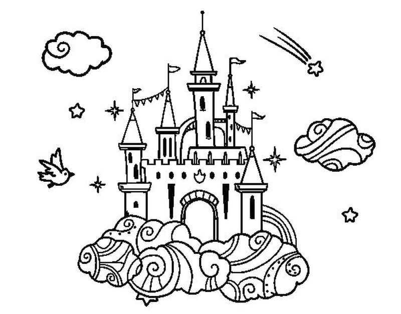 free printable sandcastle coloring pages