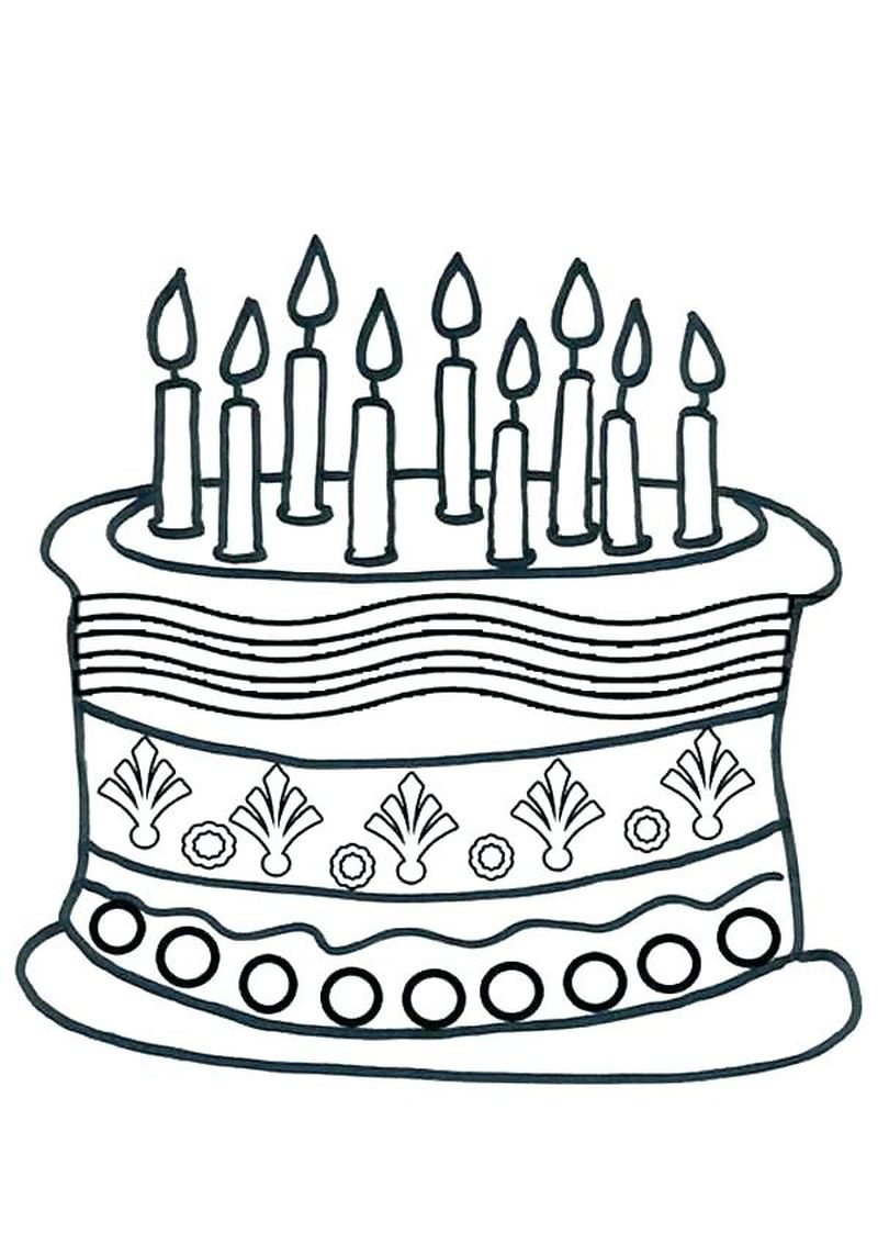 free printable wedding cake coloring pages