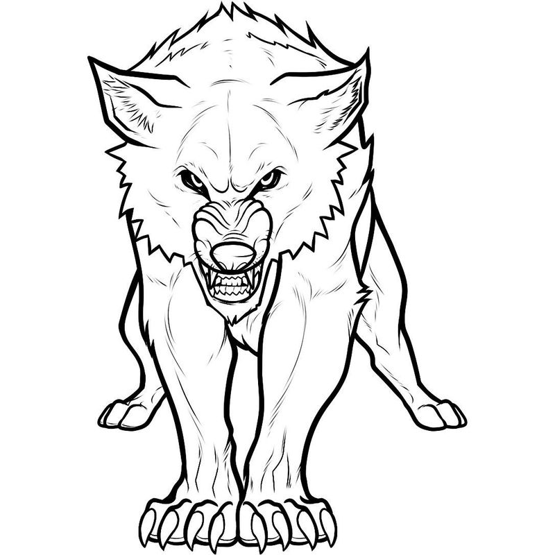 free printable wolf coloring pages pdf