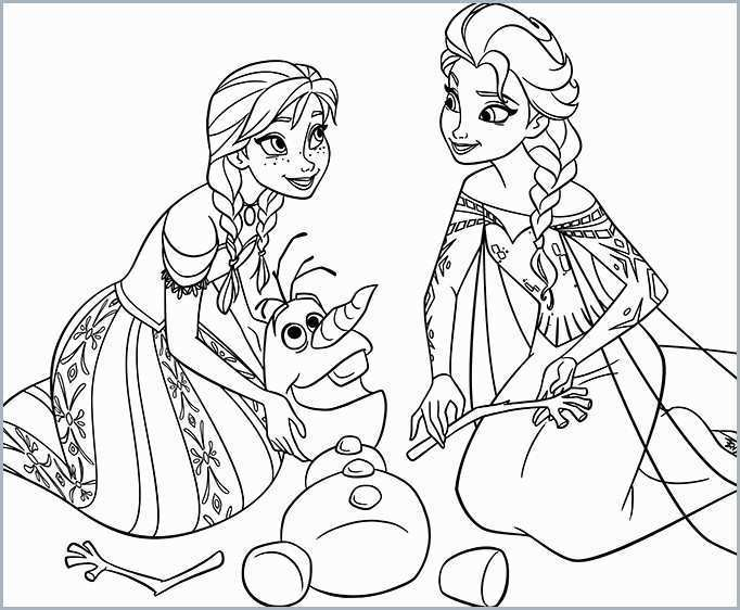 frozen coloring pages olaf and sven