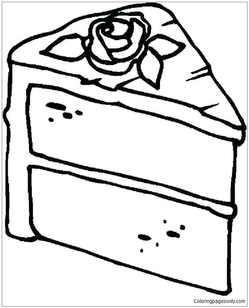 fruit cake coloring pages