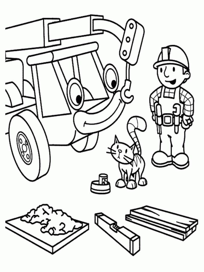 fun bob the builder coloring pages