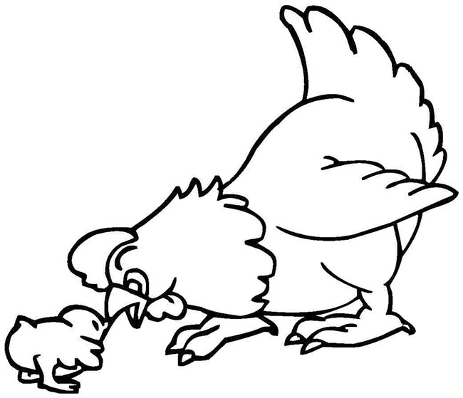 funny chicken coloring pages